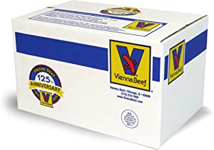 "Vienna® Beef Natural Casing Jumbo Franks 6"" 4:1 10 lbs. (Approximately 40 count)"