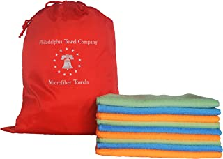 Philadelphia Towel Company's Super Absorbent Eco Clean Large Microfiber Cleaning Cloth - 12