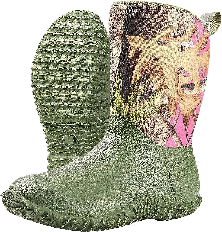 HISEA Women's Rubber Garden Boots Waterproof Insulated online shop Gard Yard quality assurance