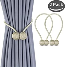 1 Pair Magnetic Curtain Tiebacks Decorative Rope Holdback Holder for Small Window Drapries