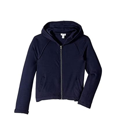 Splendid Littles Super Soft French Terry Hoodie Jacket (Big Kids) (Navy) Girl