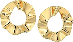 Kate Spade New York - Frilled To Pieces Bipass Hoop Earrings