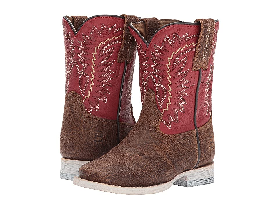 Ariat Kids Elite (Toddler/Little Kid/Big Kid) (Oiled Gaucho/Arena Red) Cowboy Boots
