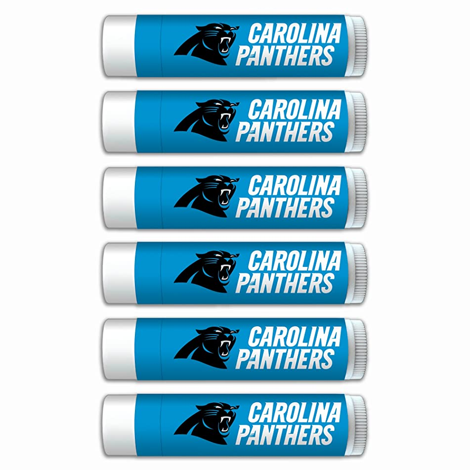 NFL Carolina Panthers Premium Lip Balm 6-Pack Featuring SPF 15, Beeswax, Coconut Oil, Aloe Vera, Vitamin E. NFL Gifts for Men and Women, Mother's Day, Fathers Day, Easter, Stocking Stuffers