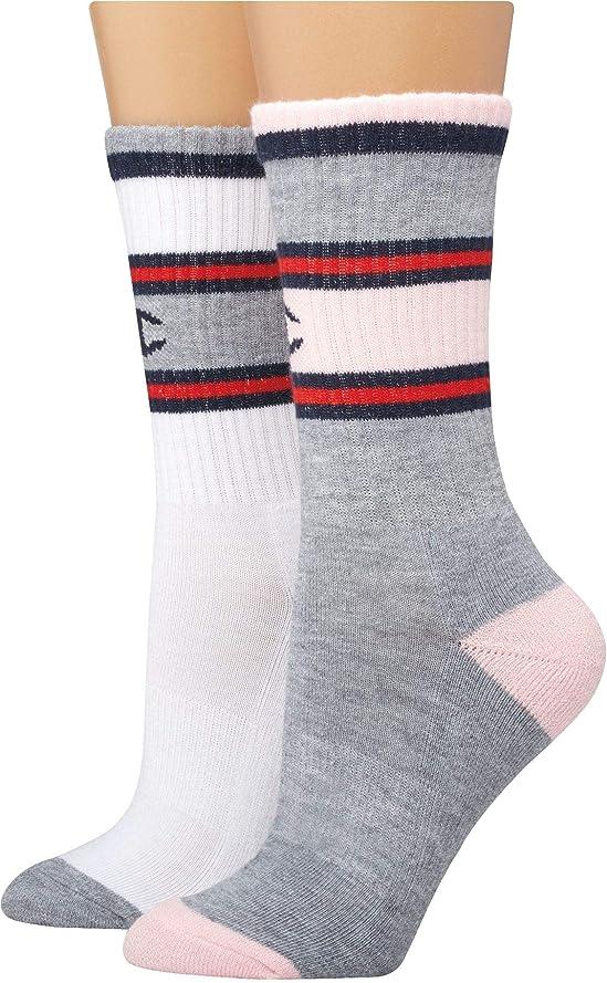 委員長放出トイレ[チャンピオン] レディース 靴下 Champion Women's Crew Socks 2-Pack [並行輸入品]