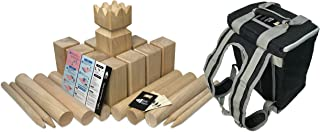 Kubb Empire Tournament Edition Premium Hardwood Set with Backpack