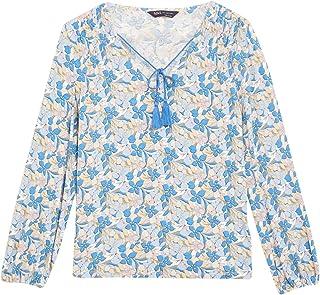 Marks & Spencer Women's Floral Tie V-Neck Long Sleeve Blouse