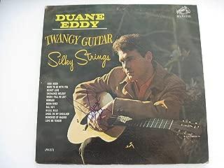 Duane Eddy Autographed Signed Twangy Guitar Silky Strings vinyl LP COA