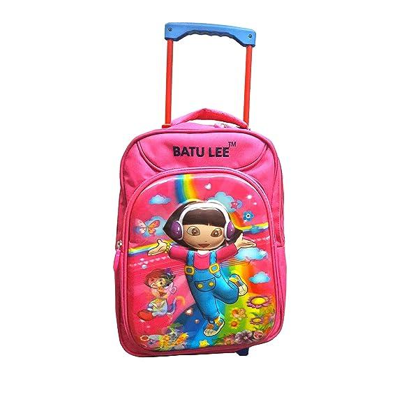 Batu Lee Dora The Explorer 18inch Red Waterproof Trolley Hybrid Children's Backpack