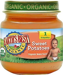 Earth's Best 第一阶段婴儿食物,甜土豆,2.5 盎司罐装,12 件装