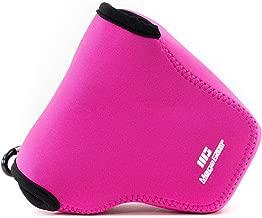 MegaGear ''Ultra Light'' Neoprene Camera Case Bag with Carabiner for Sony Cyber-shot DSC-RX10, Sony Cyber-shot DSC-RX10 II (Hot Pink)