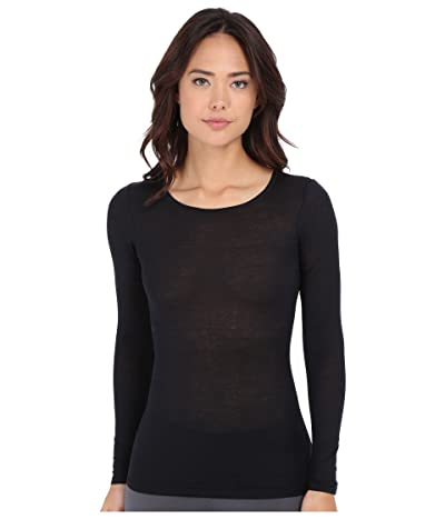 Hanro Ultralight Long Sleeve Top (Black) Women