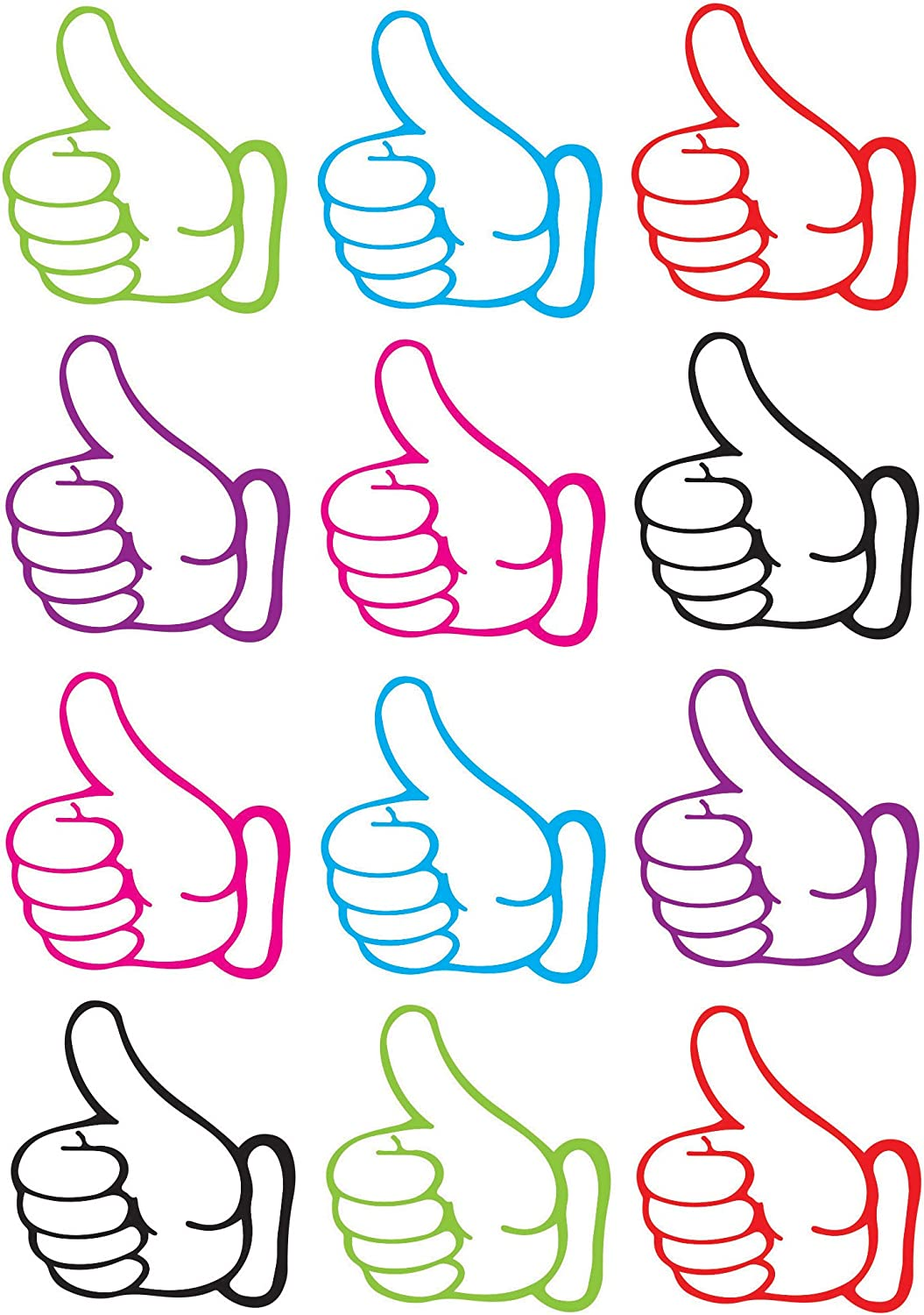 ASHLEY PRODUCTIONS Thumbs Up Die-Cut Piece 12 8.25