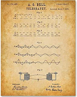 Telegraphy - 11x14 Unframed Patent Print - Makes a Great Gift Under $15 for HAM Radio Operators
