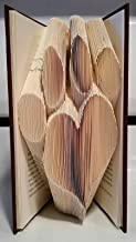 Paw print with Heart book sculpture