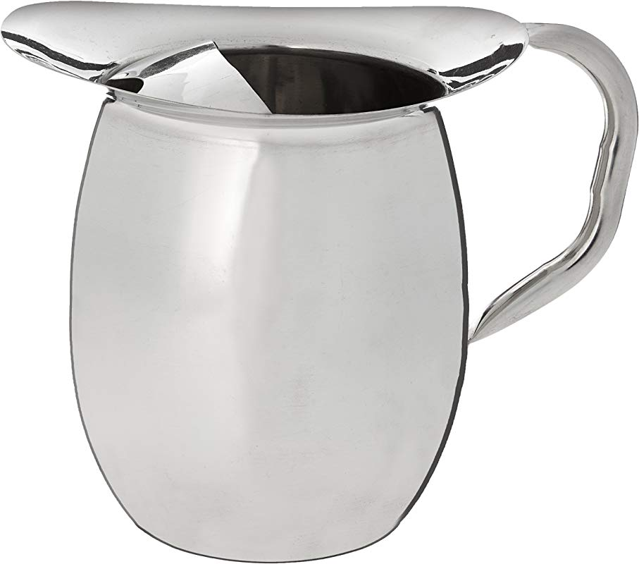 Winco WPB 2 Deluxe Bell Pitcher 2 Quart Stainless Steel