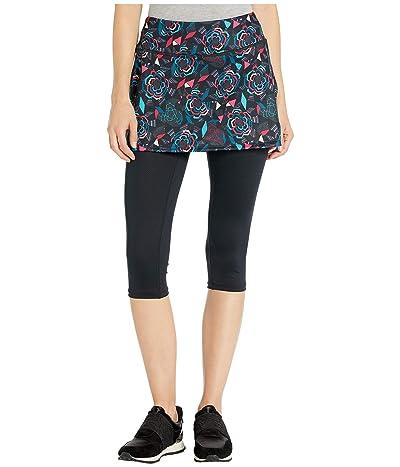 Skirt Sports Lotta Breeze Capri (Rebel Fleur Print/Black) Women