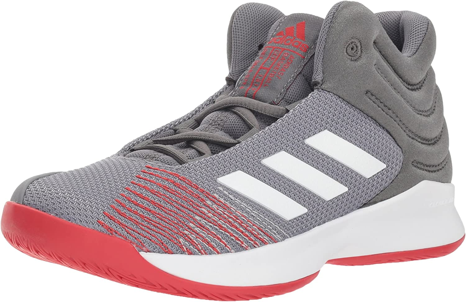 Adidas Explosive Ignite 2018 (Wide) shoes Kid's Basketball 10.5K Grey-White