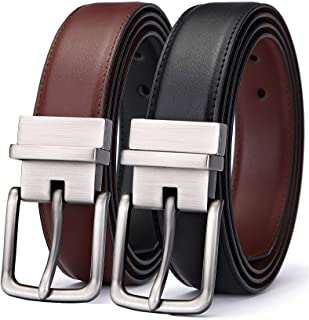 Sponsored Ad - Men's Belt,Bulliant Leather Reversible Belt 1.25