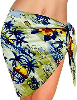 b58b9234793a8 FREE Shipping by Amazon. LA LEELA Women Beachwear Mini Sarong Bikini Cover  up Wrap Dress Printed