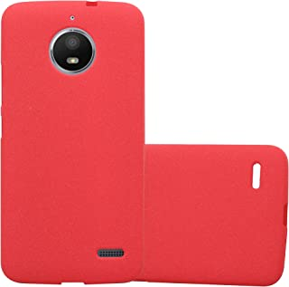 Cadorabo Case Works with Motorola Moto E4 in Frost RED – Shockproof and Scratch Resistant TPU Silicone Cover – Ultra Slim Protective Gel Shell Bumper Back Skin
