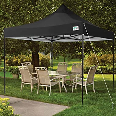 MEWAY Upgraded Pop Up Canopy Commercial Instant Shelter Tent with 100 Square Feet of Shade, Outdoor Tent for Party with Wheel