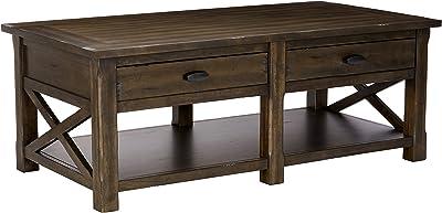 Amazon.com: Sauder Carson Forge Lift-Top Table, Coffee Oak ...