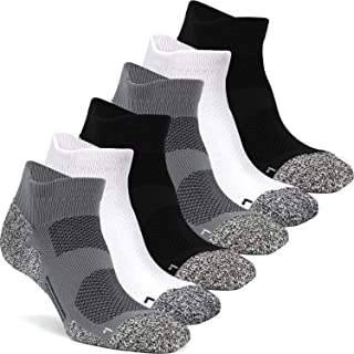 CWVLC Compression Athletic Socks (3/6 pairs) Cushioned 16-23 mmhg for Men Women