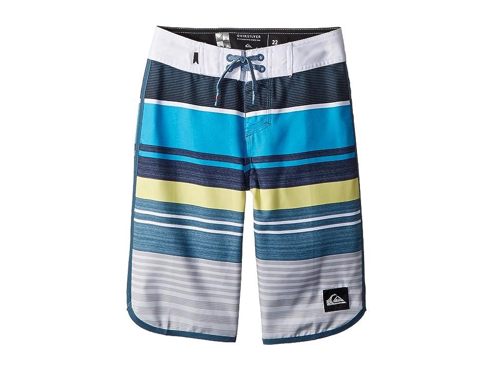Quiksilver Kids Eye Scallop Boardshorts (Big Kids) (Cyan Blue) Boy