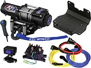 KFI Combo Kit - A3000 3000 lb Winch & Winch Mount - compatible with 2016-2018 Yamaha Grizzly 700 & 2016-2018 Kodiak 700 ATV
