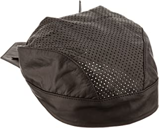 First Manufacturing Solid Perforated Top Leather Skull Cap (Black)