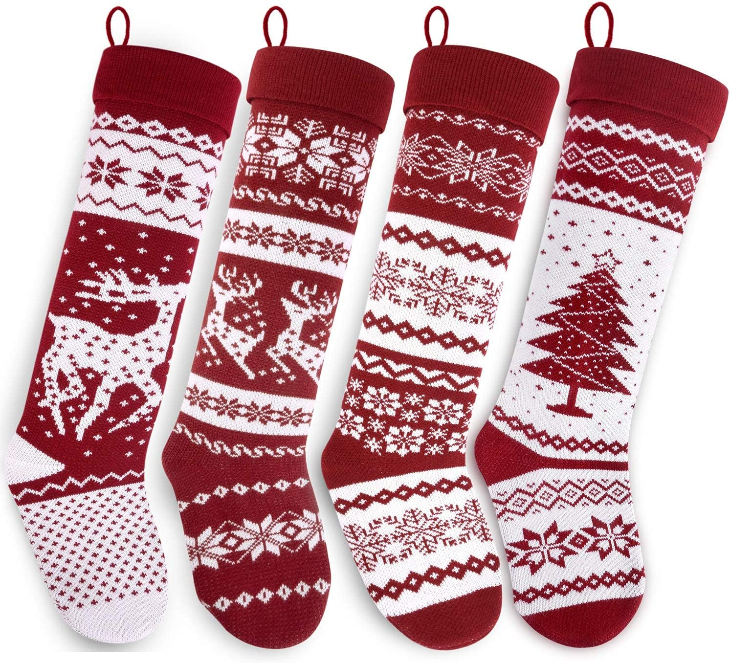 Starry Max 69% OFF Dynamo Christmas Stockings Hand-Knitte Long All items free shipping Extra 26-Inch