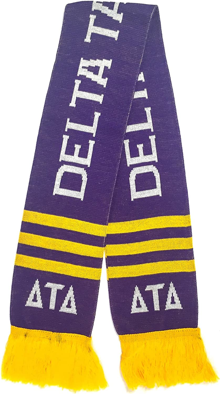 Delta Tau Delta Fraternity Letter Winter Scarf Greek Cold Weather Winter Delts