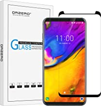 (1 Pack) Orzero for LG V35 Thinq Tempered Glass Screen Protector, 2.5D Arc Edges 9 Hardness HD Anti-Scratch (Full-Coverage) (3D Curved Glass) (Lifetime Replacement)