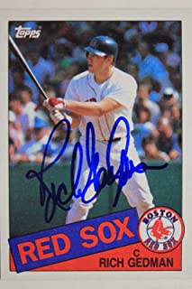 Rich Gedman Red Sox Cardinals Astros Autographed 1985 Topps #529 Signed Card 16L