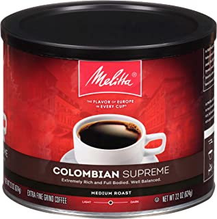 Melitta Colombian Supreme Medium Roast Ground Coffee, 22 Ounce