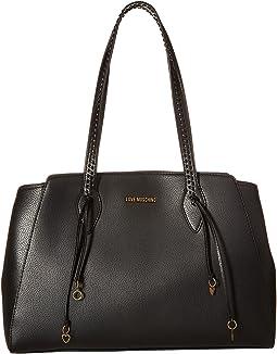 Shoulder Bag w/ Gold Heart Charms