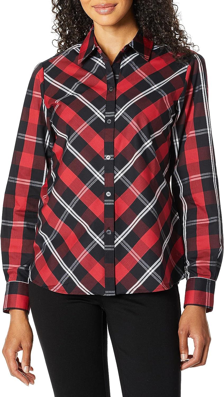 Foxcroft OFFicial Tulsa Mall site Women's Tina Mackenzie Tartan Shirt Plaid