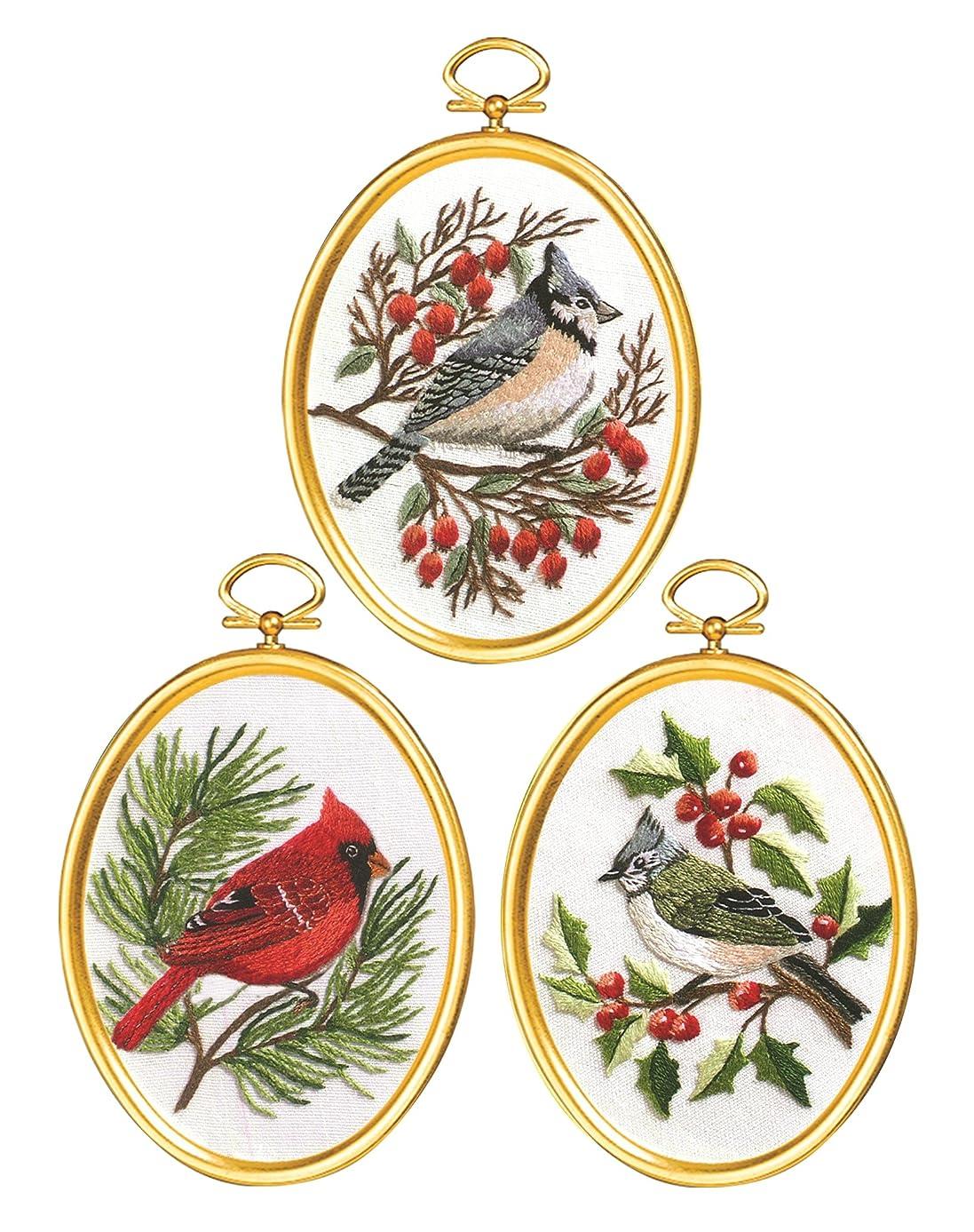 Janlynn Winter Birds Cross Stitch Supplies