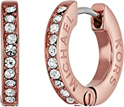 Michael Kors - Tone and Crystal Huggie Hoop Earrings