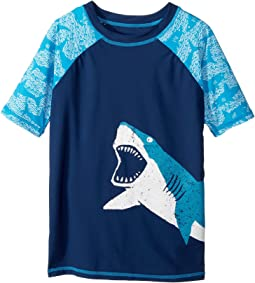 Hatley Kids - Shark Alley Short Sleeve Rashguard (Toddler/Little Kids/Big Kids)