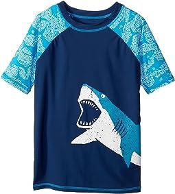 Hatley Kids Shark Alley Short Sleeve Rashguard (Toddler/Little Kids/Big Kids)