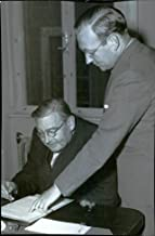 Vintage photo of Professor Erik Widmark and director Helmer Rehnby from Continuing Association - 14 September 1944