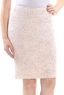 388d508c12e197 St John Womens Ivory Above The Knee Pencil Skirt US Size: 2