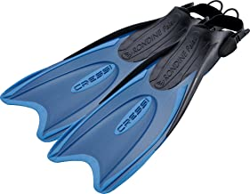 Cressi Snorkeling Adjustable Fins for All Family - Long Blade Versatile Open Heel Flippers | Palau LAF made in Italy