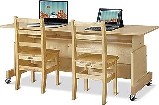 Jonti-Craft 3358JC Apollo Double Computer Desk, Maple Top
