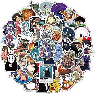 2021 New Miyazaki Hayao Theme Stickers 50 Pcs, My Neighbor Totoro Sticker, Cute Cartoon Anime Sticker for Laptops Luggage ...
