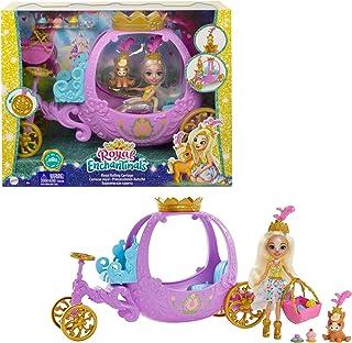Enchantimals Royals coffret Carrosse Royal avec mini-poupée Peola Poney et figurine animale Petite, 7accessoires inclus, ...