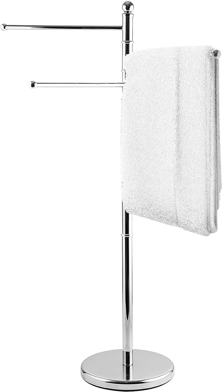 MyGift 40-Inch Rapid Seattle Mall rise Freestanding Metal Towel Kitchen Bathroom R