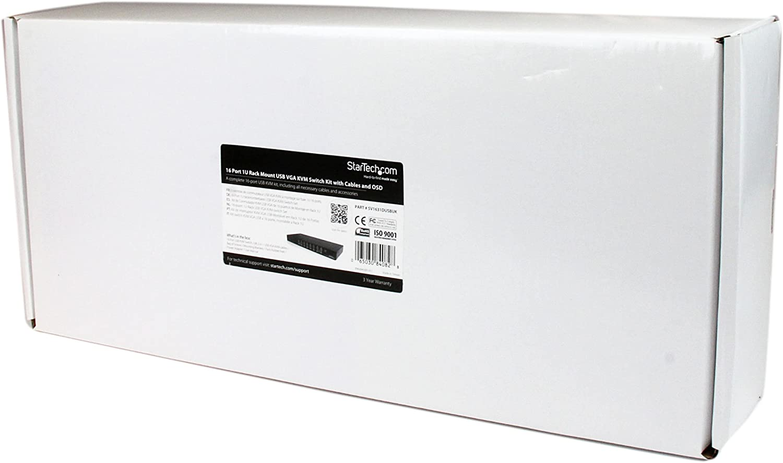 StarTech.com 16 Port Rackmount USB KVM Switch Kit with OSD and Cables - 1U (SV1631DUSBUK)